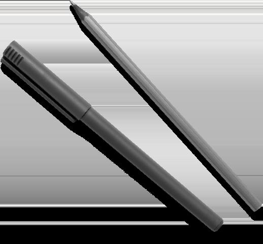 Füller und Bleistift