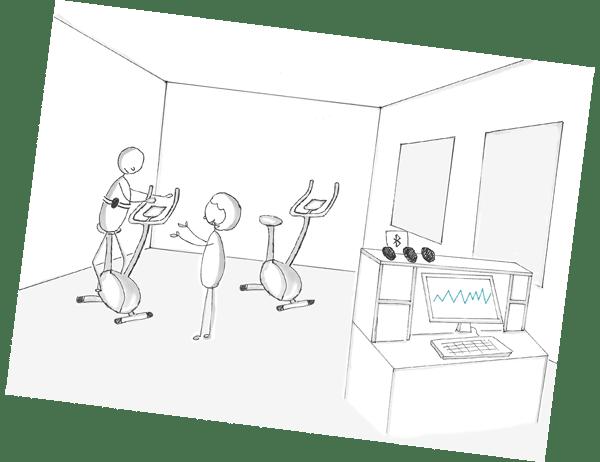 User Story im UX Design Prozess: Persona trainiert mit Indoor Bike