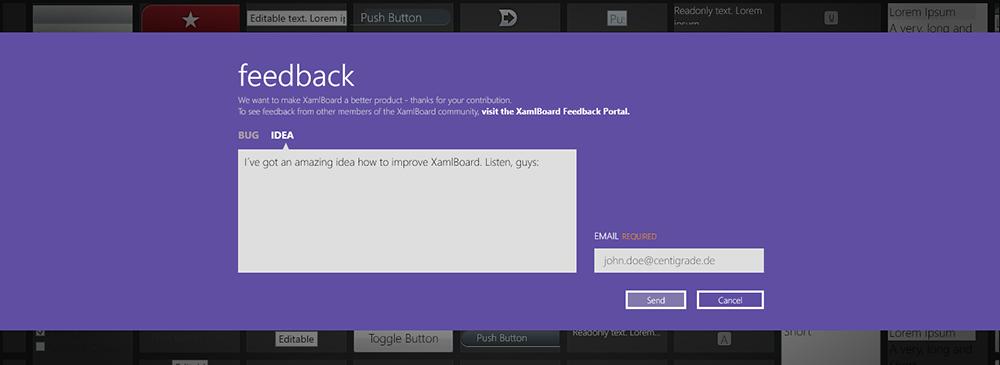 XamlBoard Feedback Formular