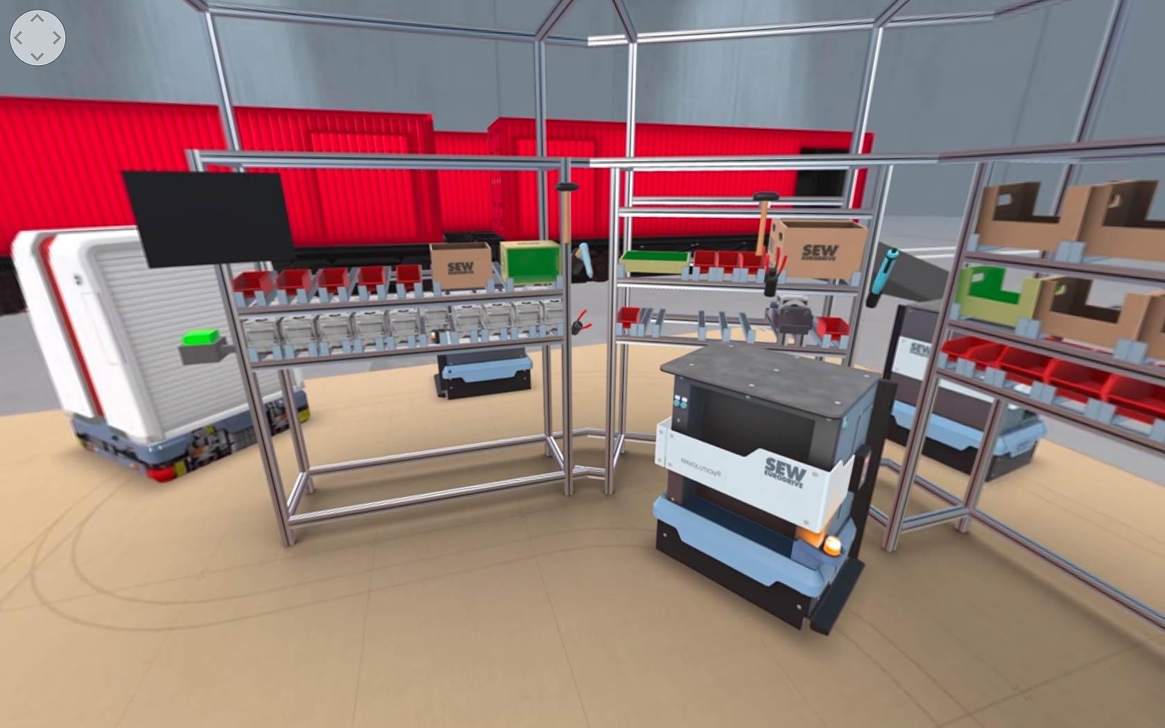 Virtual Reality Version der SEW-EURODRIVE zur Schulung von Mitarbeitern