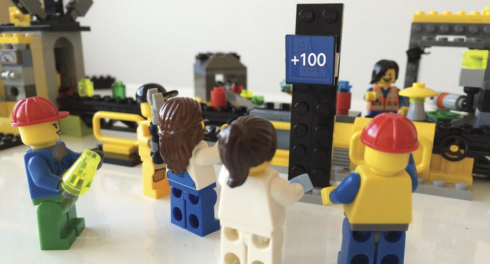 LEGO-Modell einer gamifizierten Produktionsanlage