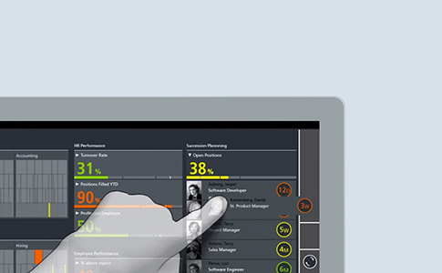 Human Resources Management Dashboard - Touch Interactions