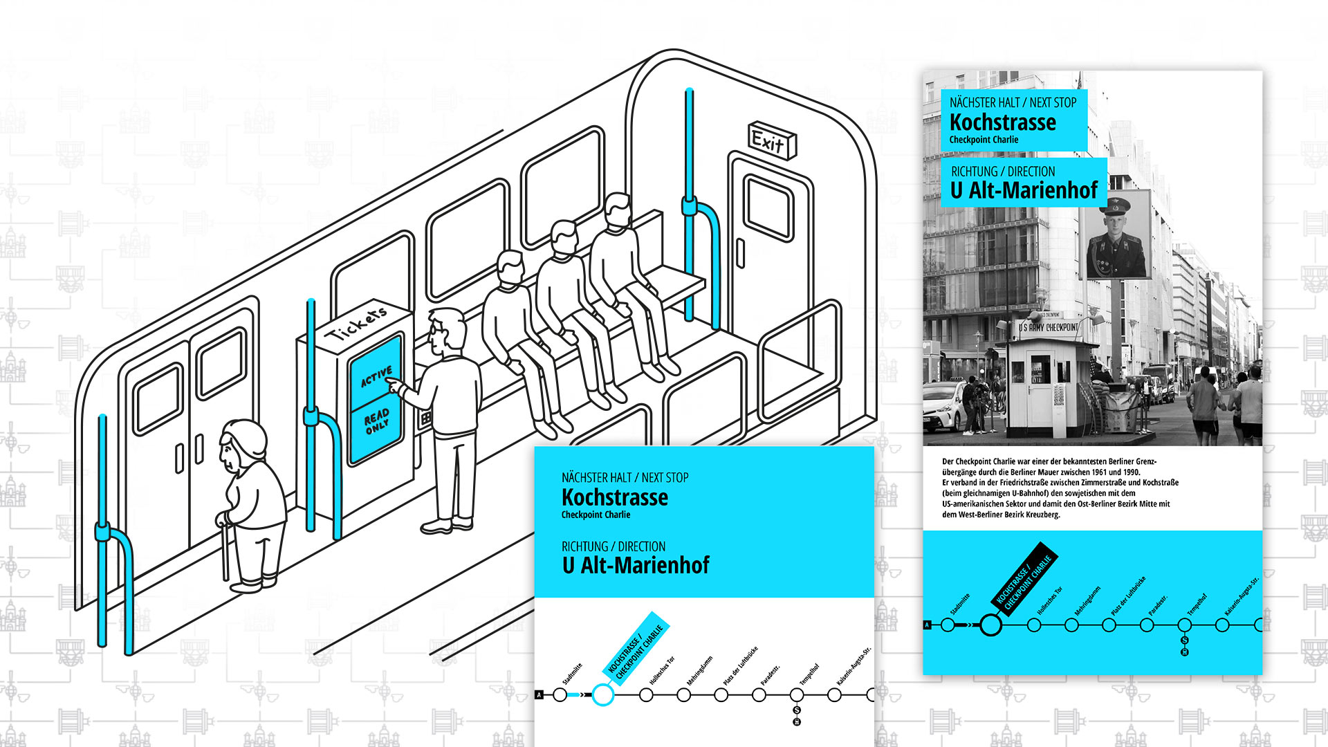 Quickly to your destination – Clear and intuitive touchpoint in public transport