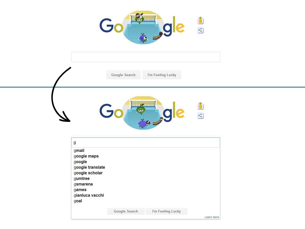"""Was passiert wenn man in das Suchfeld im """"Instant-Ergebnisse neu anzeigen"""" Modus schreibt?"""