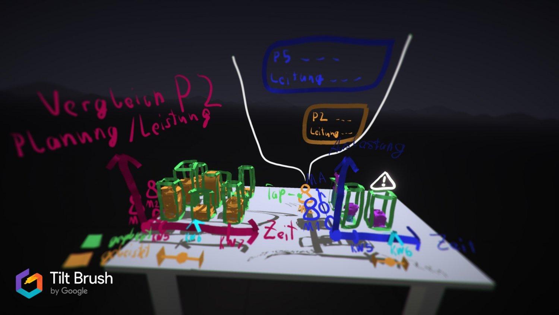 """3D-Wireframe mit Googles """"Tilt Brush"""" und der HTC Vive"""