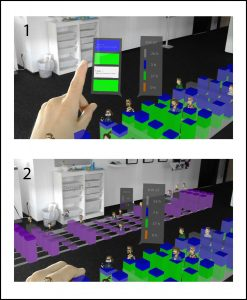 """View & gesture control: Selecting a project via """"Air-Tap"""""""