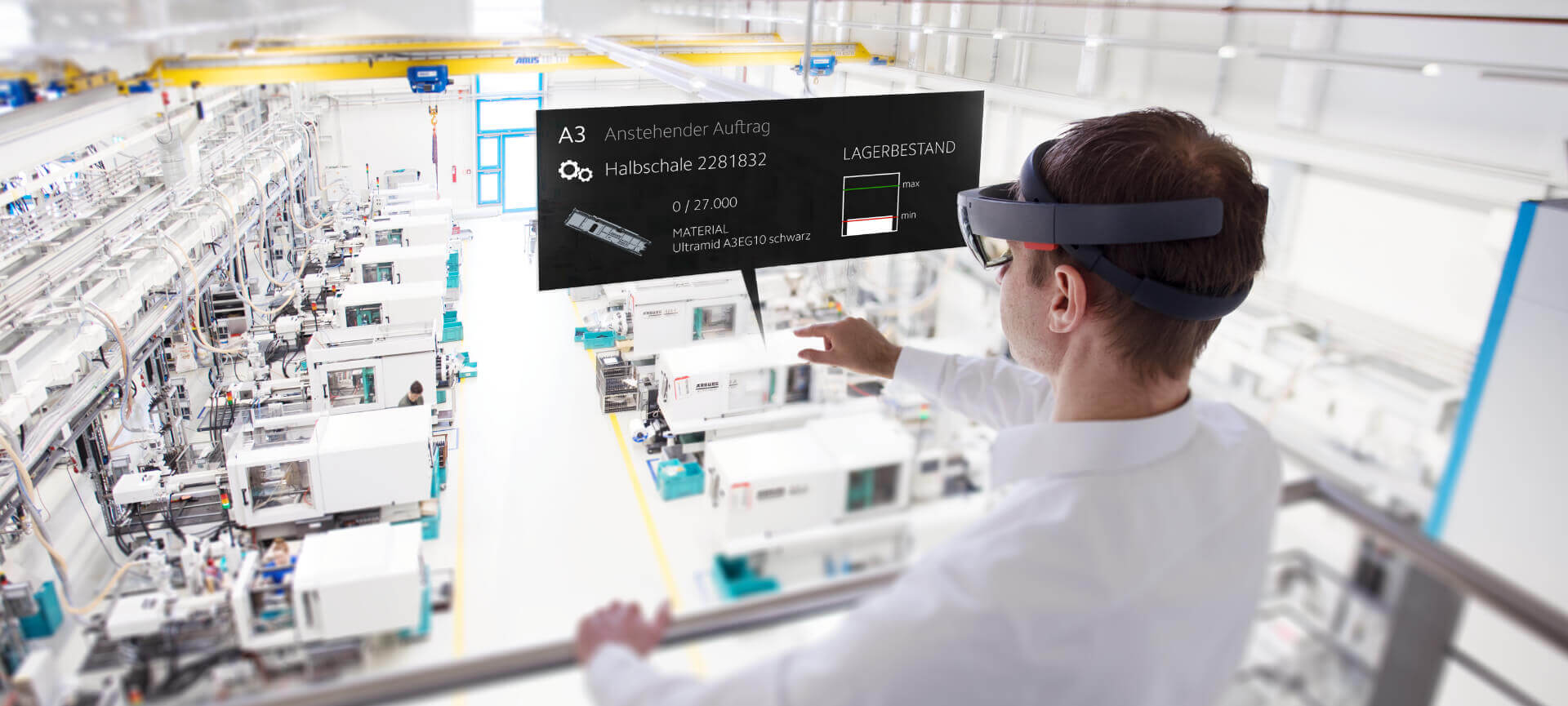 DeepSight AR Augmented Reality Konzept Industrie40
