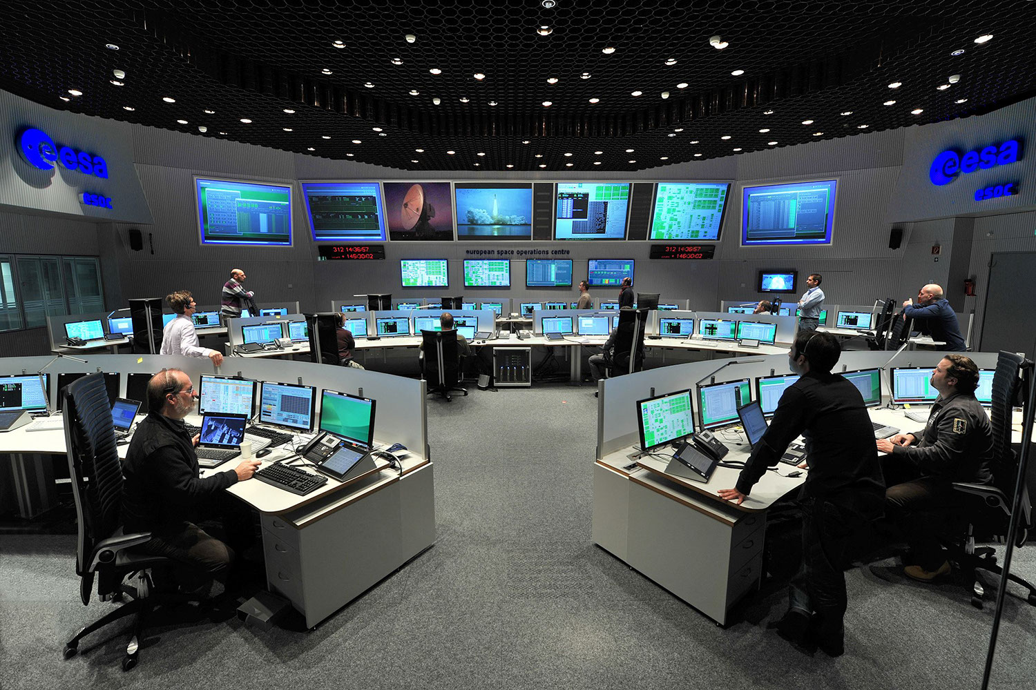 Control room of the esa space station