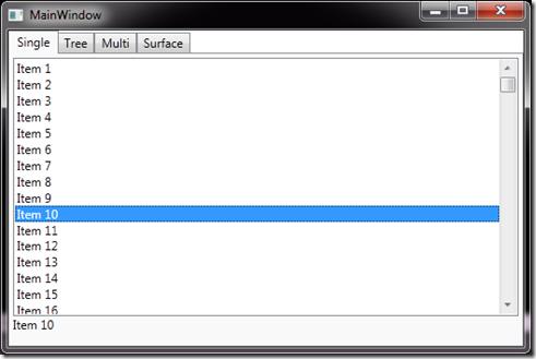 Beispiel: Selektion einer ListBox