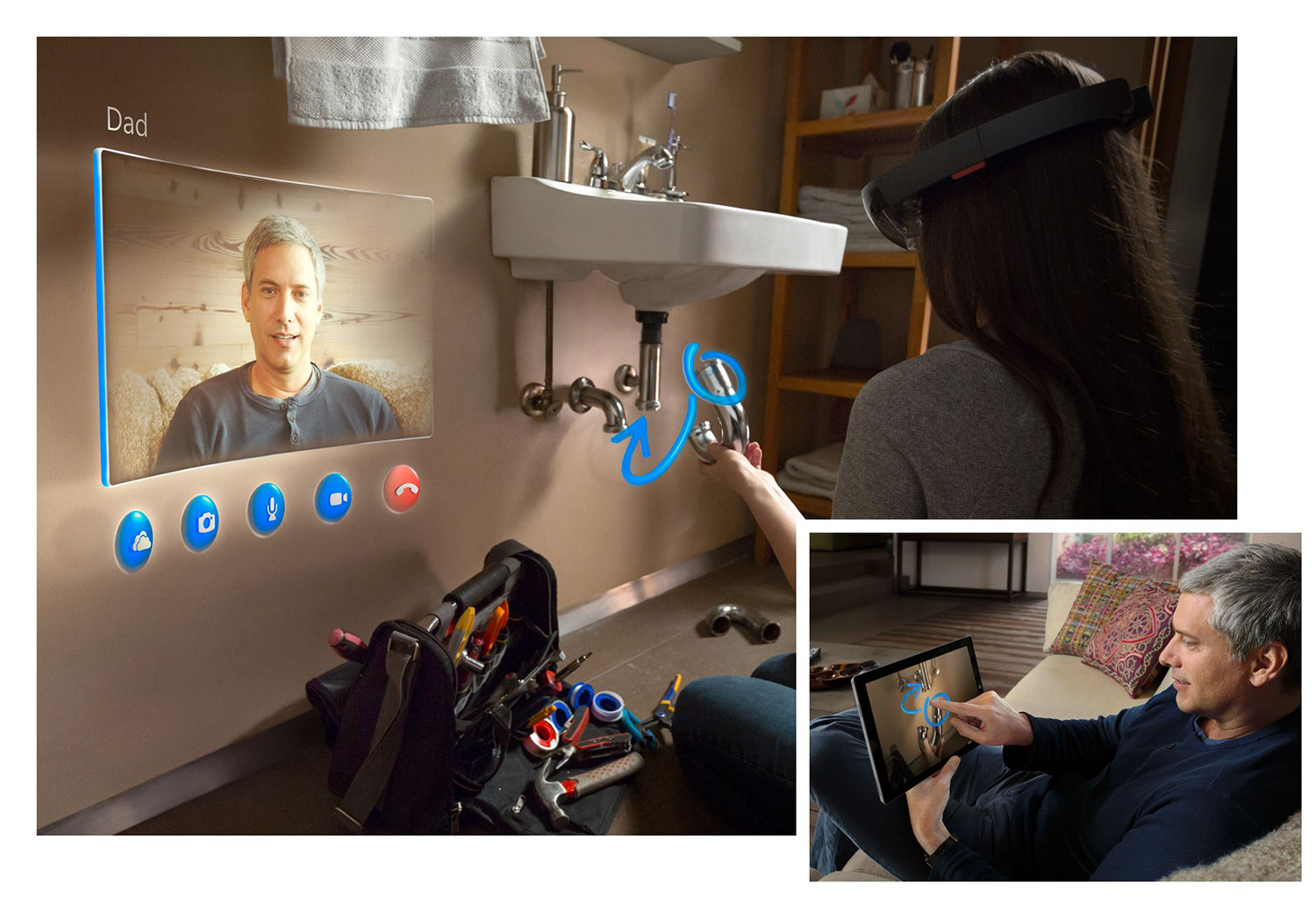 Microsoft HoloLens: Concept for an augmented reality application