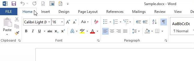 Microsoft Ribbon Fluent Design