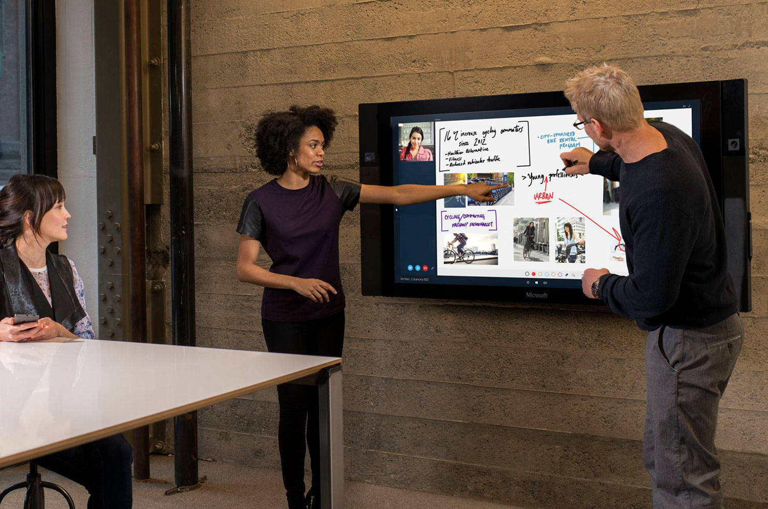 Microsoft Surface Hub in Meetings