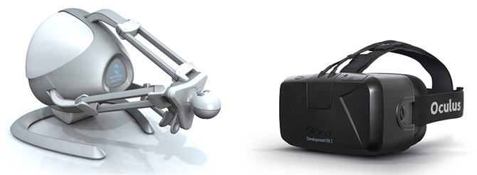Oculus Rift and Novint Falcon
