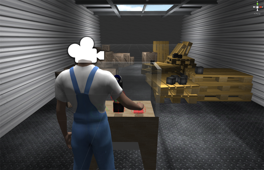 Screenshot from the scene in Unity3D