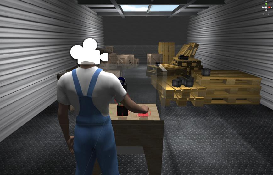 Screenshot der Szene in Unity 3D