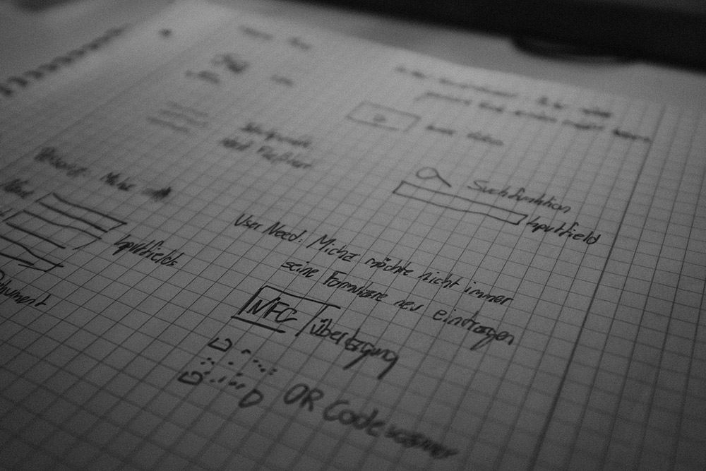 Skribble Entwurf