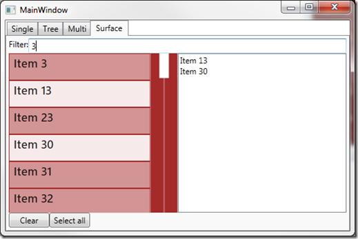 Beispiel: Selektion einer Surface-ListBox
