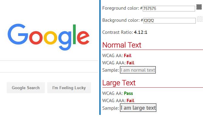 WebAIM test results