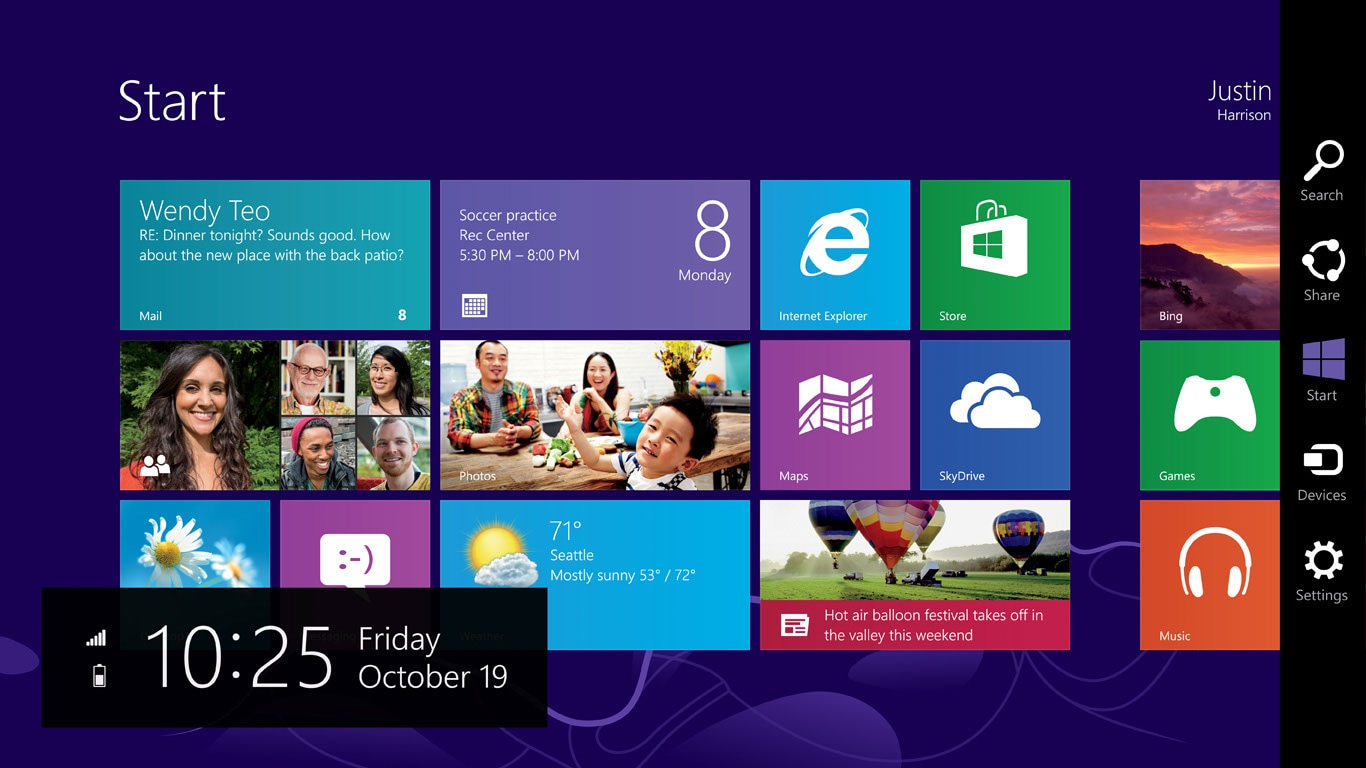 Windows 8 Startbildschim
