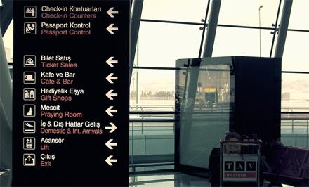 Ankara Airport Piktogramme