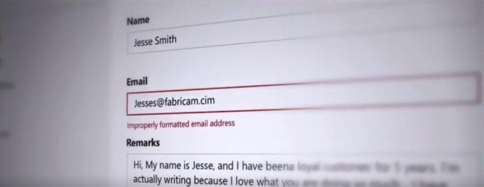 Microsoft Fehler falsch formatierte E-Mail