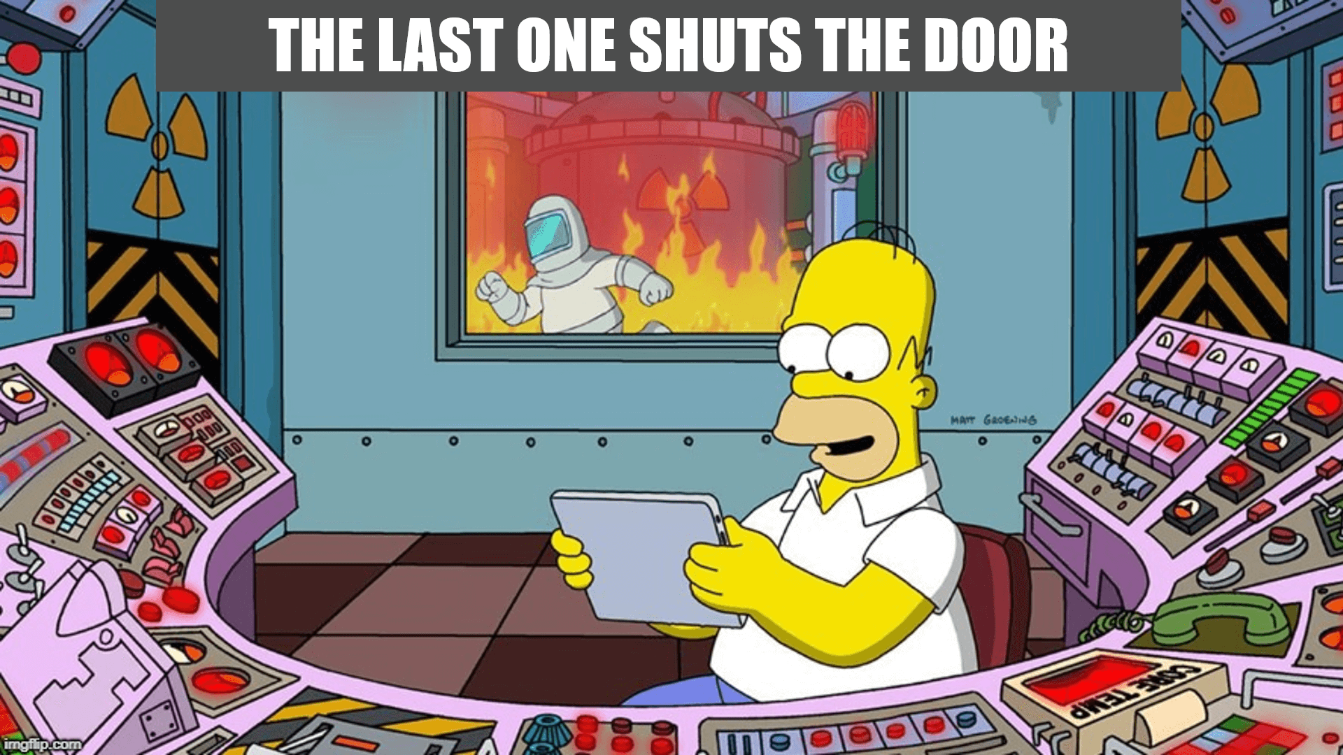 Homer Simpson on tablet