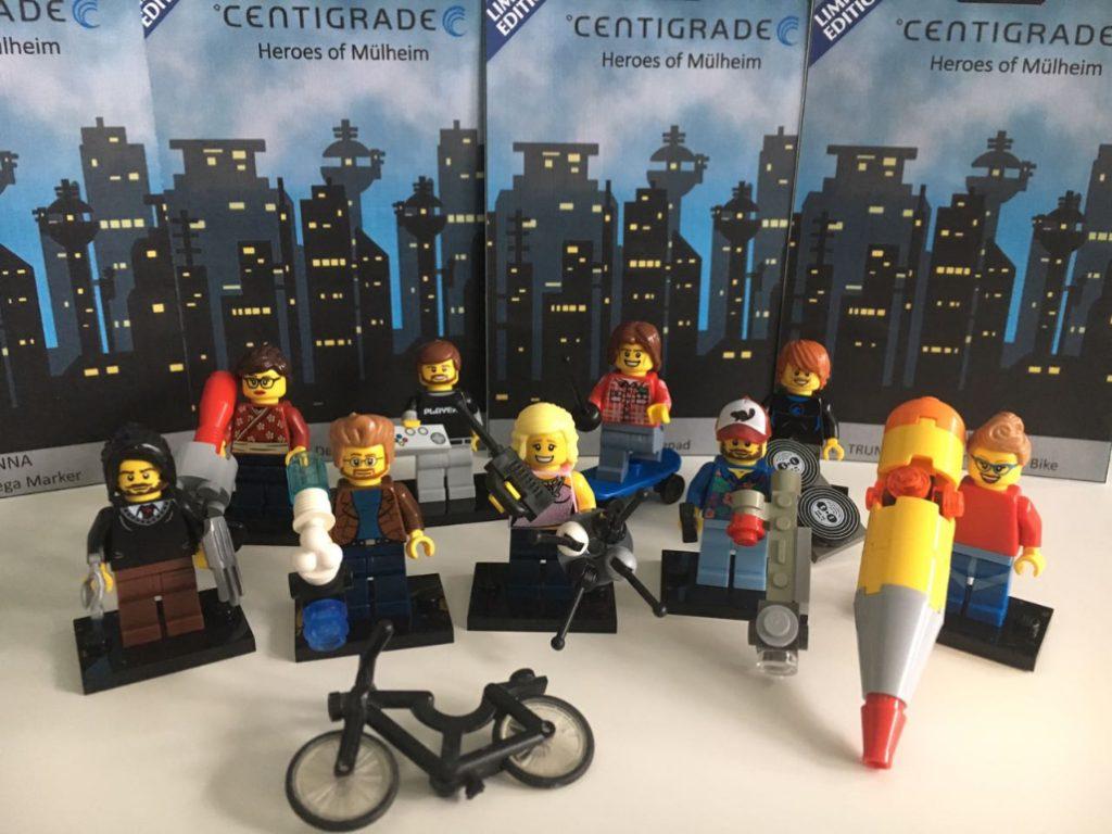 """Lego """"Action Figuren"""" der Mitarbeiter von Centigrade."""