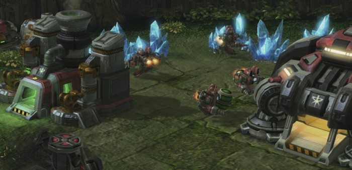 Starcraft Initiation of complex chains of commands with just one click.