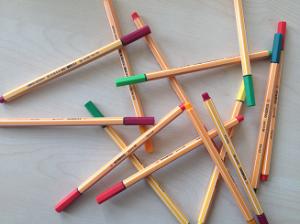 viele Stifte