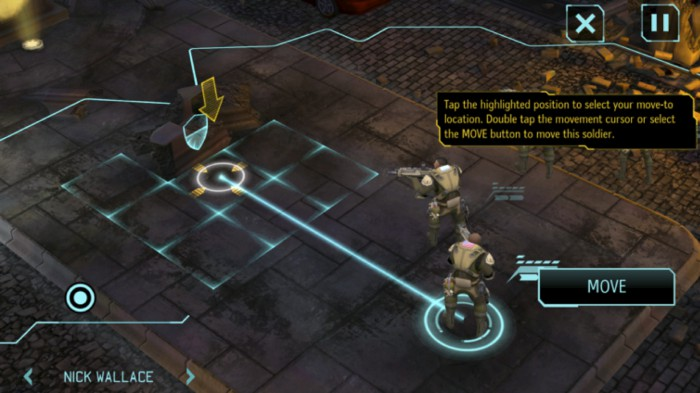 Visualization of options of action as movement paths in the game X-Com: Enemy Unknown.